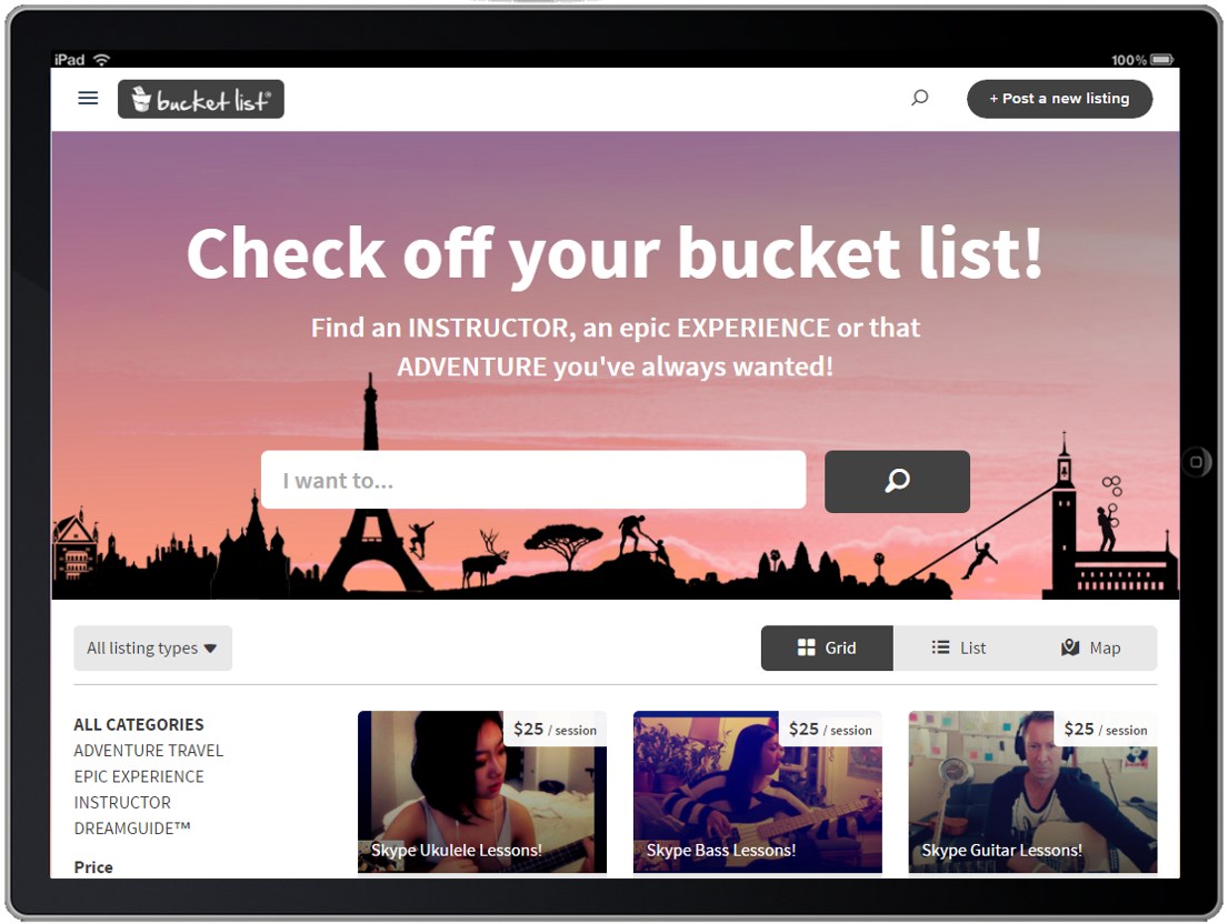 The BucketList Marketplace